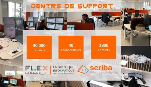 Le centre d'assistance et de support Flexmarket